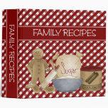 Family Recipes 2 inch Vinyl Binders