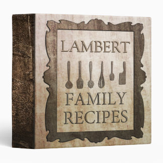 Family Recipes 3 Ring Binder