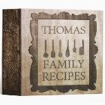 Family Recipes Custom 3 Ring Binders