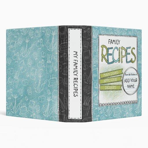 Family Recipes Custom Avery Binder