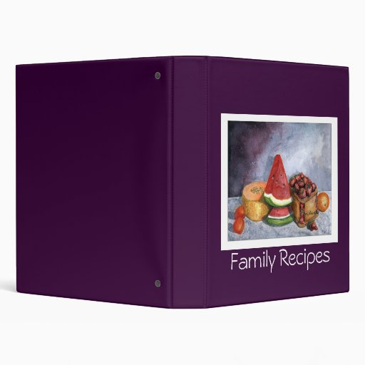 Family Recipes - Fruit Still-life Binder