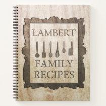 Family Recipes Notebook