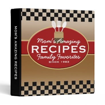 reflections06 Family Recipes Personalized 3 Ring Binder