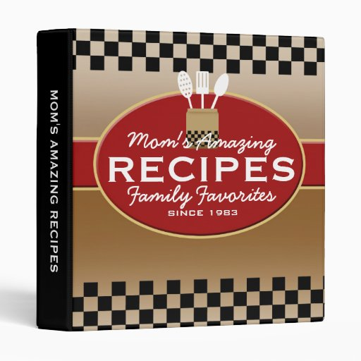 Family Recipes Personalized Vinyl Binder