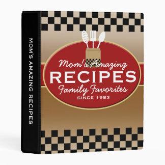 Family Recipes Personalized Mini Binder
