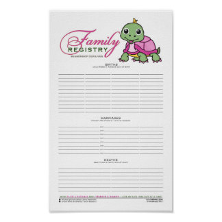 Family Registry [Ancestry, Lineage, Remembrance] Poster
