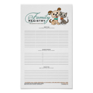 Family Registry (Bowwow and MeeYow) Poster