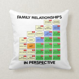 Family Relationships In Perspective (Genealogy) Pillows