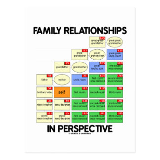 Family Relationships In Perspective (Reunion) Postcard