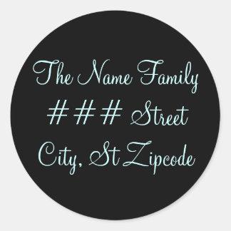family return address label - personalize info