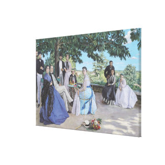 Family reunion, 1867 canvas print