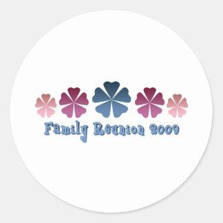 Family Reunion 2009 Classic Round Sticker