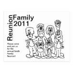 Family Reunion 2011 Coloring Invite Postcard