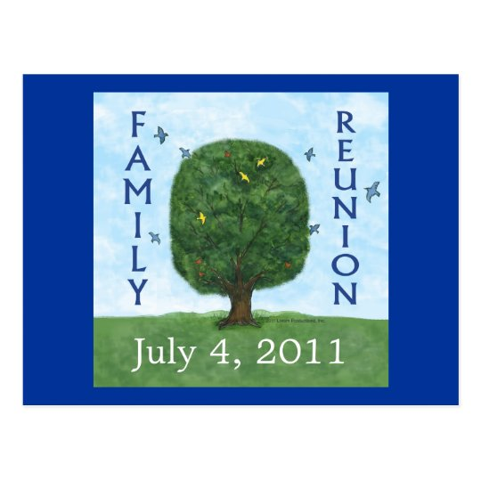 Family Reunion 2011 Postcard Invitation