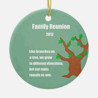 Family Reunion 2012 Ceramic Ornament