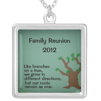 Family Reunion 2012 Silver Plated Necklace
