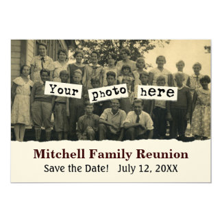 Family Reunion Announcement Photo Template