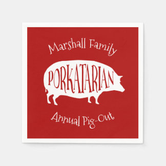 Family Reunion Annual Pig-Out BBQ Funny Paper Napkin