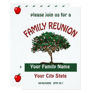 Family Reunion Apple Tree Invitation