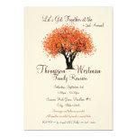 Family Reunion Autumn Tree Card