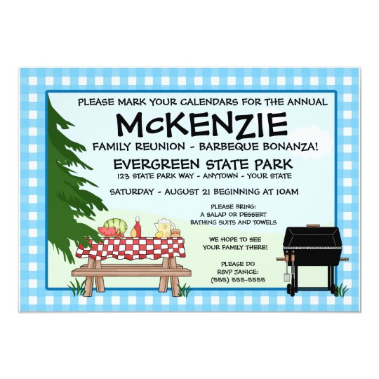 Family Reunion Barbeque Card