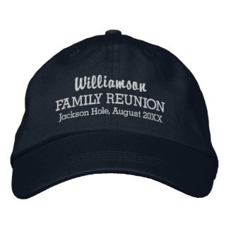 Family Reunion Baseball Cap Custom Location & Date