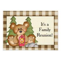 Family Reunion Bear fun Invitation