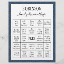 Family Reunion Bingo Game 1