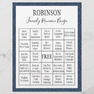 Family Reunion Bingo Game 1