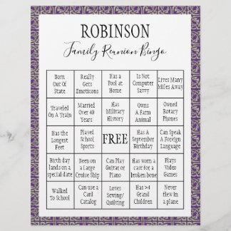 Family Reunion Bingo Game 3