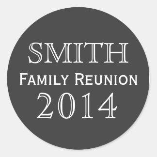 Family Reunion Black Background Classic Round Sticker