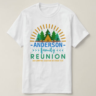 Family Reunion Camping Trip Custom Name + Text T-Shirt