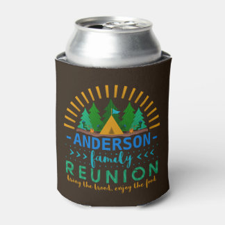Family Reunion Camping Trip Funny | Add Name Can Cooler
