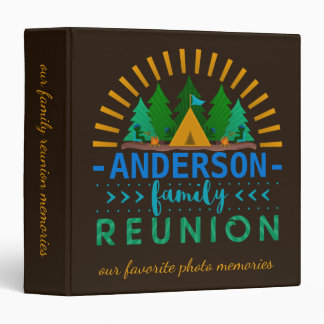 Family Reunion Camping Trip Memories | Custom Name Binder