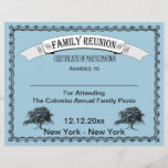 """Family Reunion Certificate of Participation<br><div class=""""desc"""">Family Reunion Certificate of Participation features vintage style frame and &quot;family&quot; trees.  Give a certificate of participation to family members at your next reunion. Certificate can be used as attendance,  contests,  games and more. Change the background color to your own favorite color or family colors.</div>"""