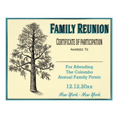 Marvelous Family Reunion Certificate Of Participation Flyer | Zazzle.com Intended For Family Reunion Flyer