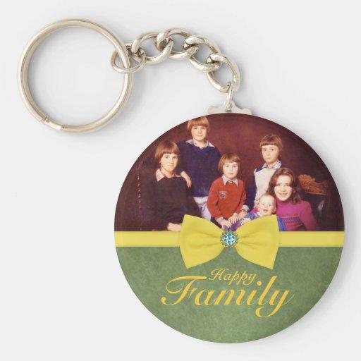Family reunion classic photo keychain