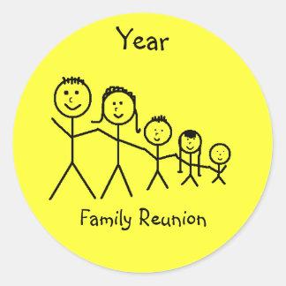 Family Reunion Classic Round Sticker