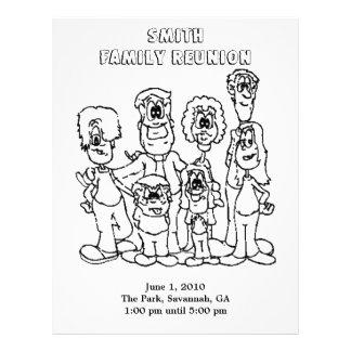 Family Reunion Coloring page souvenir Letterhead Design