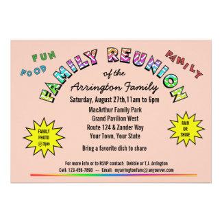 Family Reunion Colors Announcement Invitation