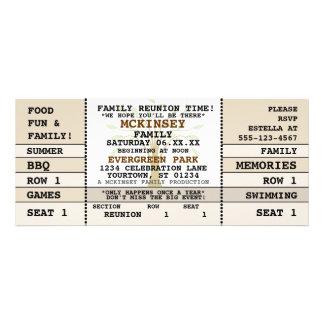 Family Reunion Concert Ticket Invitation
