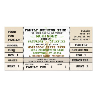 Family Reunion Concert Ticket Invitation