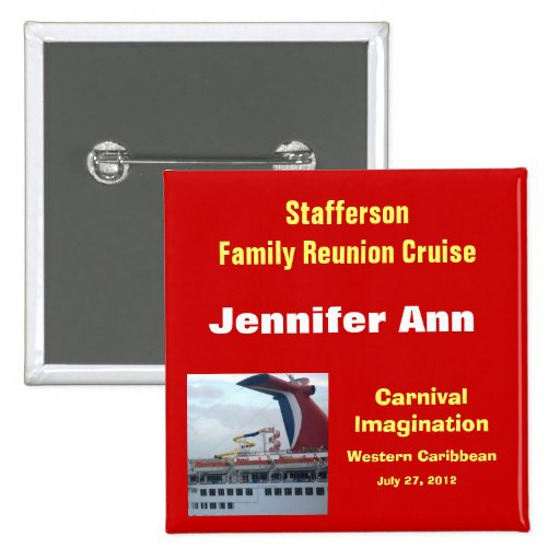 Family Reunion Cruise Badge-CIM2N Pinback Button