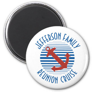Family reunion cruise door magnet with anchor