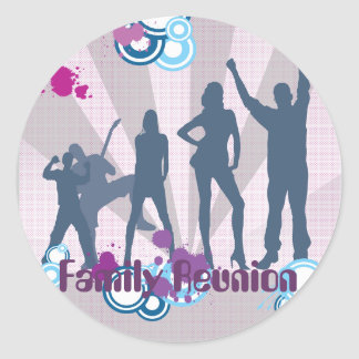 Family Reunion Customizable Classic Round Sticker