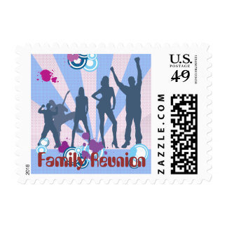 Family Reunion Customizable Postage Stamps