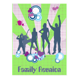 Family Reunion Customizable Postcard