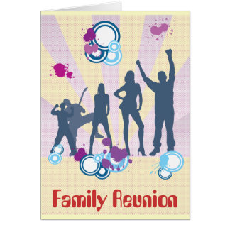 Family Reunion Customizable Stationery Note Card