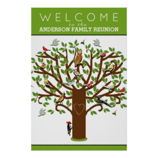 family reunion decoration poster