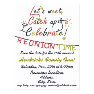 Family Reunion design Postcard